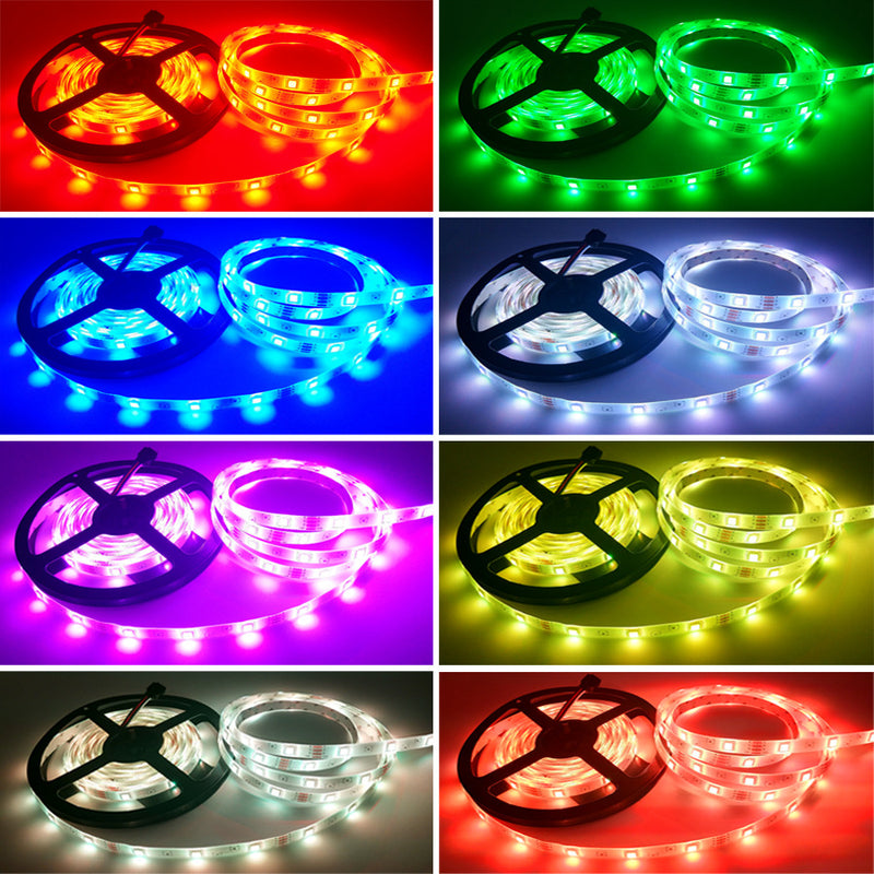 16.4FT/5Mtr 150LEDs RGB LED Strip Light Kit SMD5050 30LEDs/Mtr Bluetooth Wireless Smart APP control