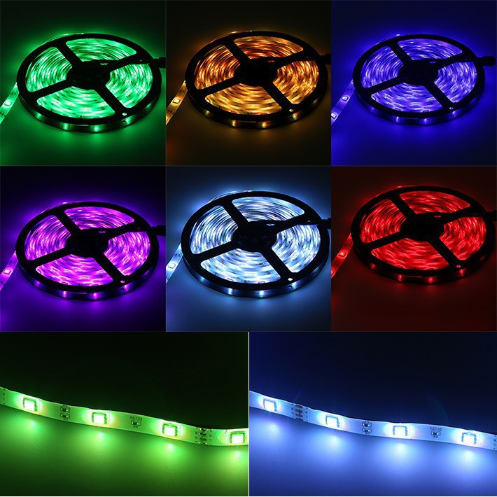 32.8FT/10Mtr RGB LED Strips Light Kit, SMD5050 30LEDs/Mtr, Bluetooth Wireless, Smart APP controlled