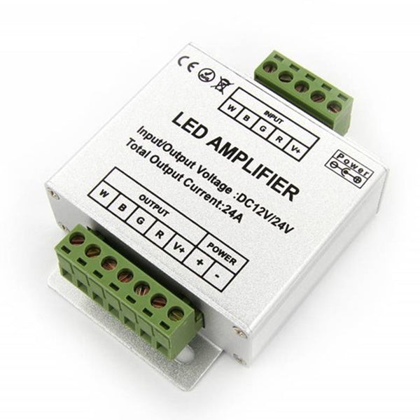 4 Channel RGBW Amplifier for 12V or 24V RGBW / RGBWW or RGB Color LED Flexible Strip Lights