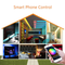 WiFi RGB LED Controller Work with Alexa Android IOS System WiFi Connected IR 24Key Remote Control