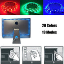INSTALLATION TIME SAVING, S-Shape Bias Lighting for HDTV -3.3ft/1M and 6.6ft/2M RGB LED Backlight Strip 12V Powered Bendable Strip Kit for Flat Screen TV LCD, Desktop Monitors. No Need to Cut.