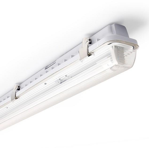 LED Tube Fixture (No Tube included) for Single LED Tube  Tri-proof LED Tube Support Bracket Waterproof , Dustproof, Corrosion-Proof