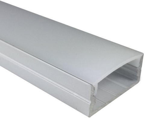 Silver U04 10x23mm U-Shape LED Aluminum Profile Aluminum Extrusion for LED Strip Light Installation