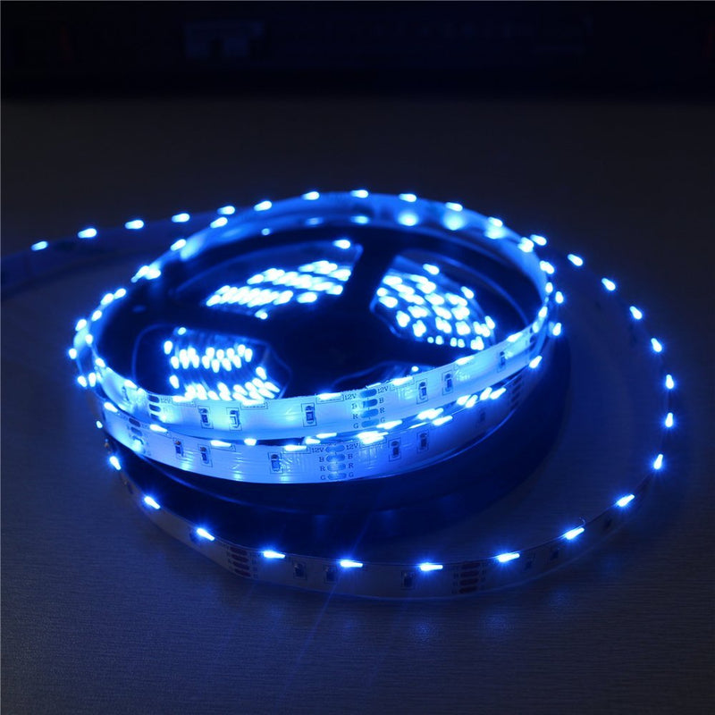 DC12V  SMD020 Side Emitting RGB Color Changing LED Strip Lights 60LEDs Per Meter 10mm White PCB Flexible Adhesive Tape