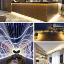 16.4ft/5M DC12V 5*13mm LED Waterproof Flexible Silicone Neon LED Strip with 300LED SMD3528 LED Light