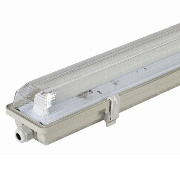 Stripe Clear  Cover T8 LED Tube Lights with Striped Clear Tri-proof  T8 Tube Fixture for Single Tube