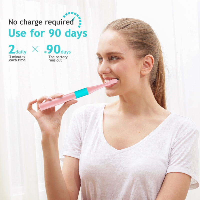2 Units per Pack Disposable Electric Toothbrush Not Rechargeable Last 90 Days Powerful for Adult