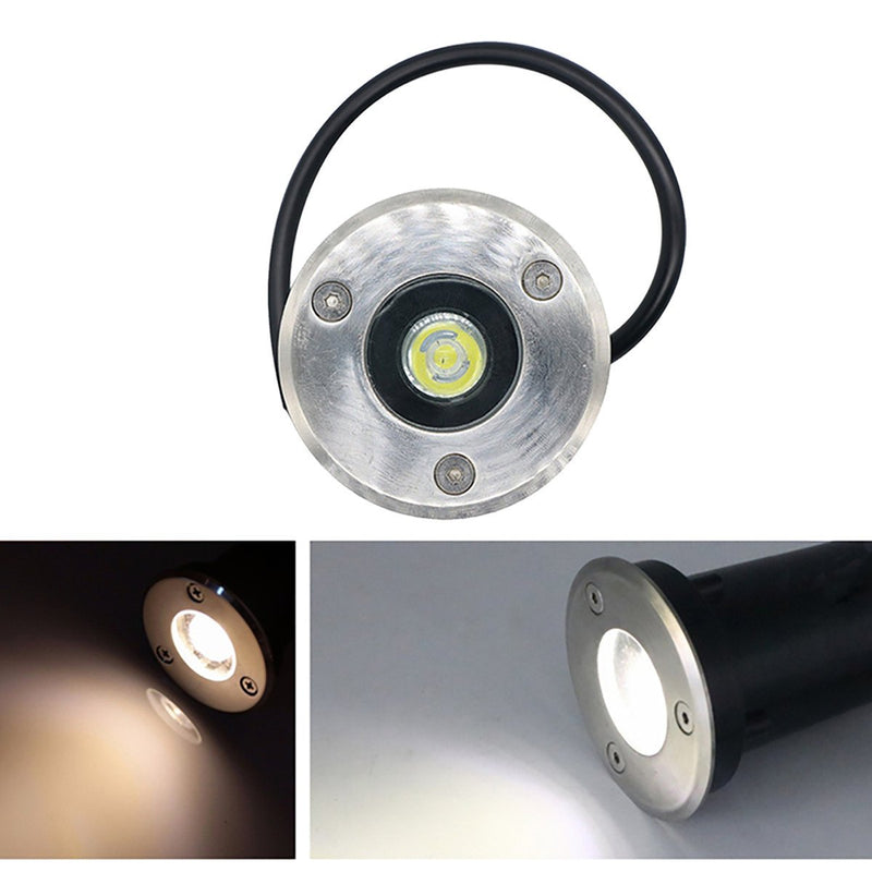 1W / 3W / 5W /7W IP67 Waterproof  Underground Fixture Landscape Uplighting Well LED Garden Lights