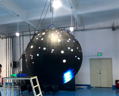 1.2m(3.94ft) in Diameter P3/P4 Indoor Spherical LED Video Ball Screen 800nits Complete Set