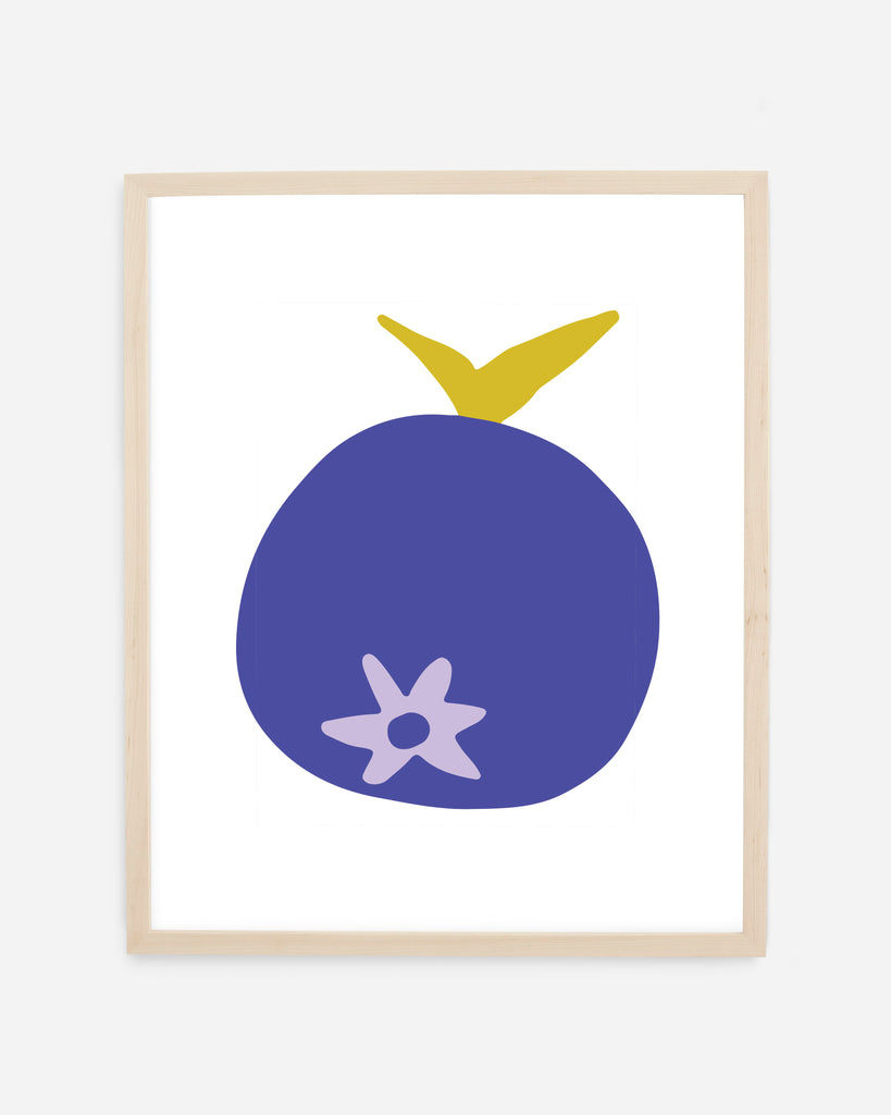 Blueberry Giclee Fine Art Print by Freckled Fuchsia. Printed in the USA on warm-white, 100% cotton archival paper.