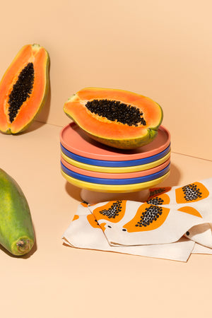 Papaya pattern tea towel