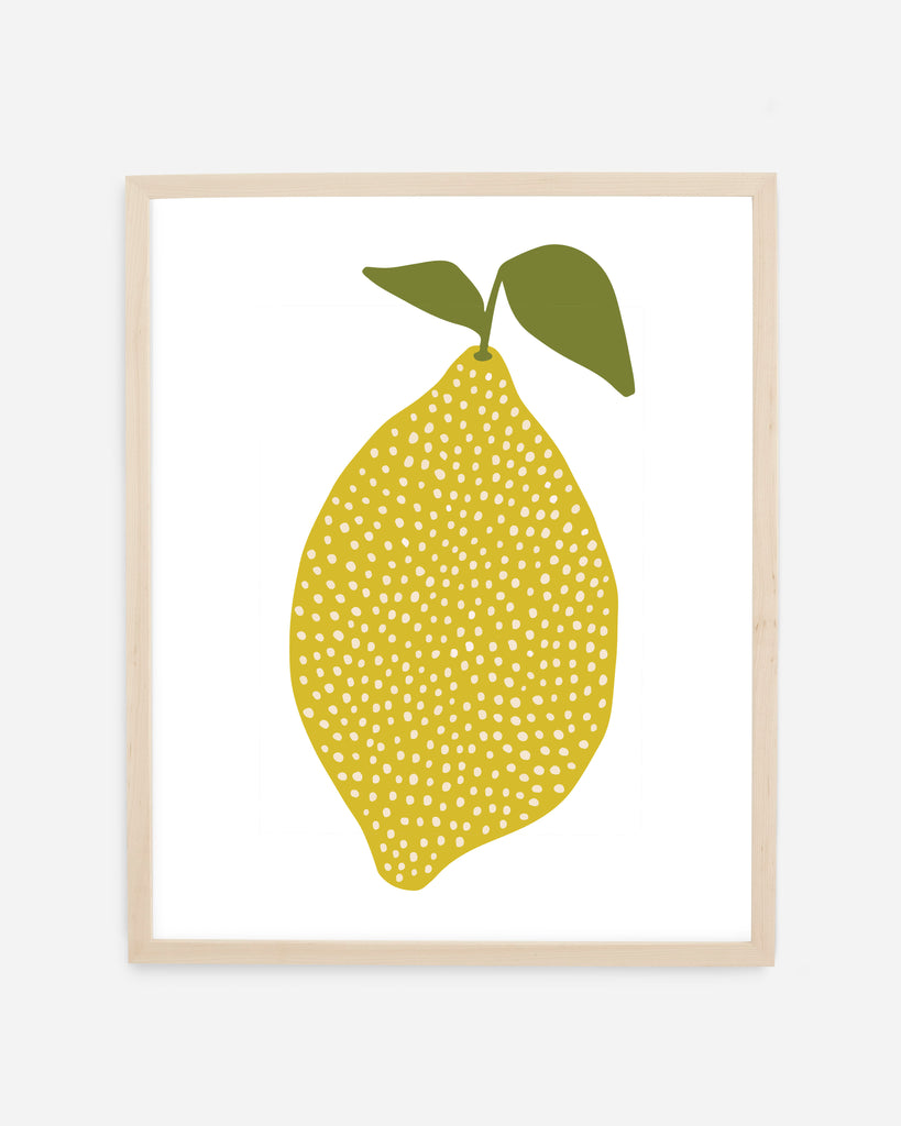 Lemon Fine Art Print by Freckled Fuchsia. Printed in the USA on 100% cotton, warm white, archival paper