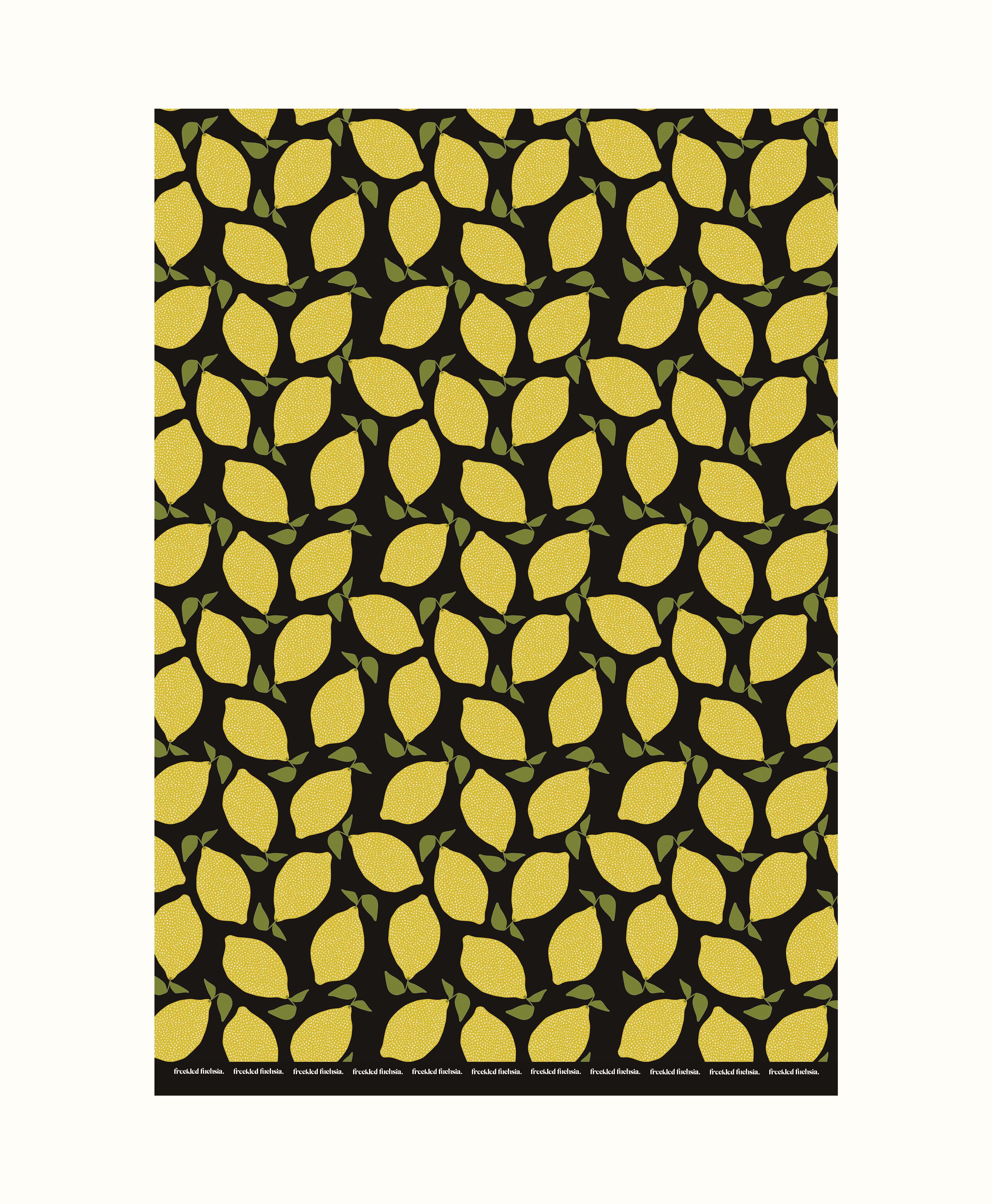 Lemon Wrapping Paper Sheets