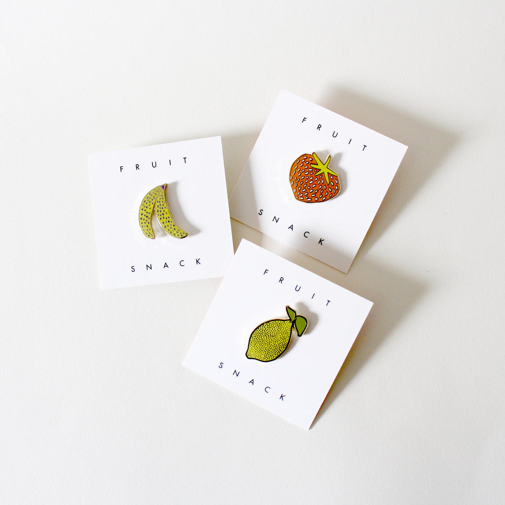 Set of 3 Fruit Pins