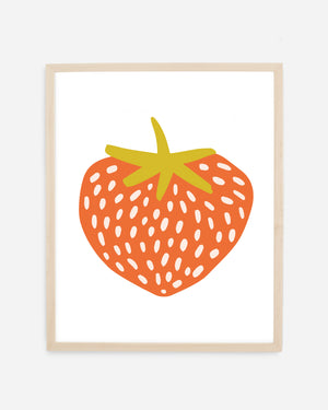 Strawberry Illustration as a fine art print, printed on warm-white, 100% cotton archival paper
