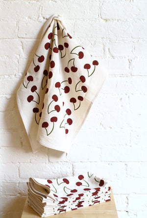 """Seconds"" Black Cherry Tea Towel"