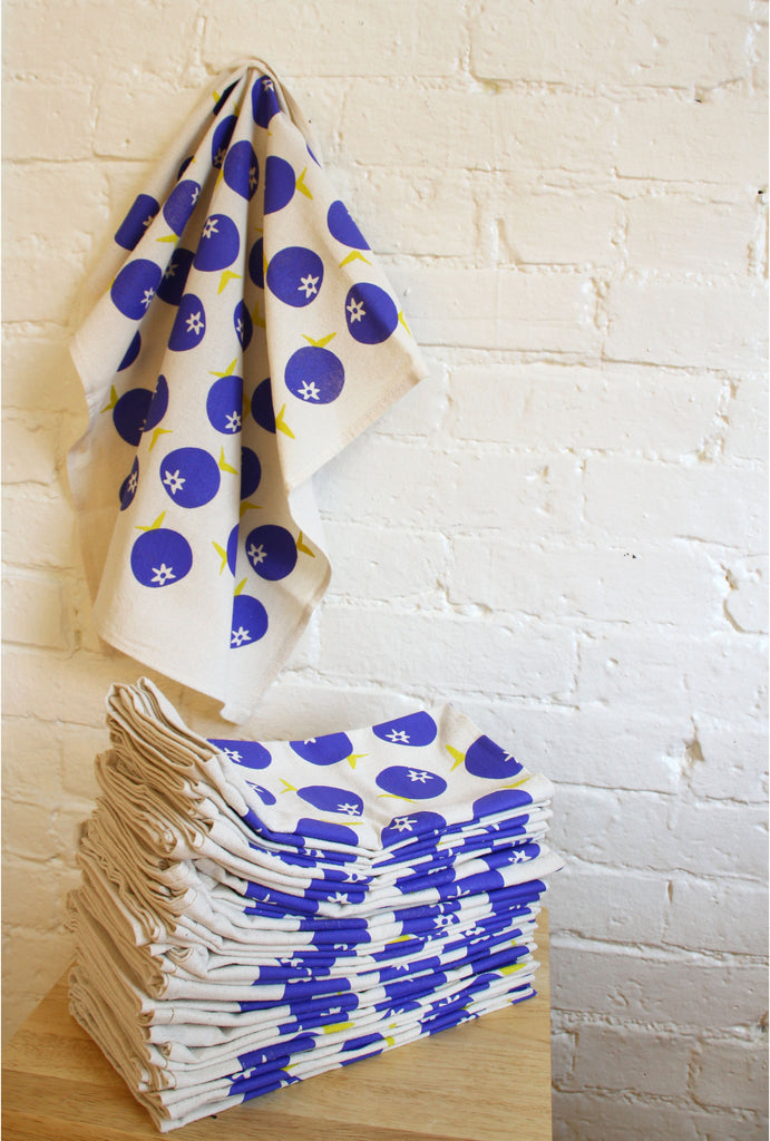 """Seconds"" Blueberry Tea Towel"