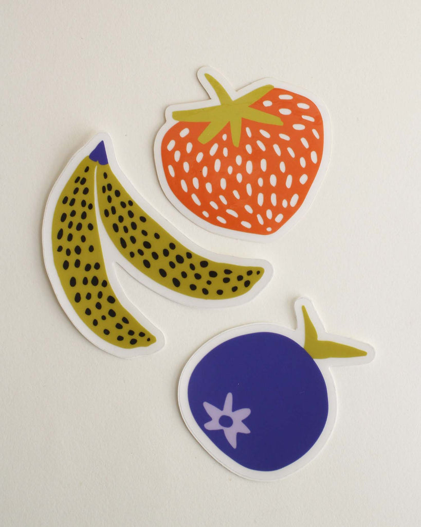 "Set of 3 ""Fruit Smoothie"" Stickers"