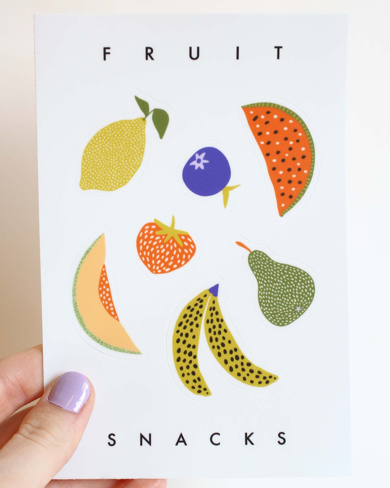 Fruit Snacks Sticker Sheet