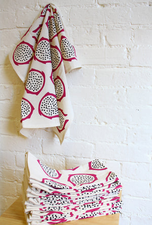 """Seconds"" Dragon Fruit Tea Towel"
