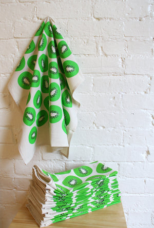 """Seconds"" Kiwi Tea Towel"