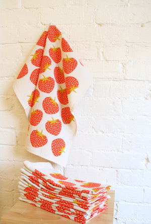 """Seconds"" Strawberry Tea Towel"