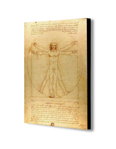 Vitruvian Man by Leonardo da Vinci - Canvas Wall Art Framed Print. Various Sizes