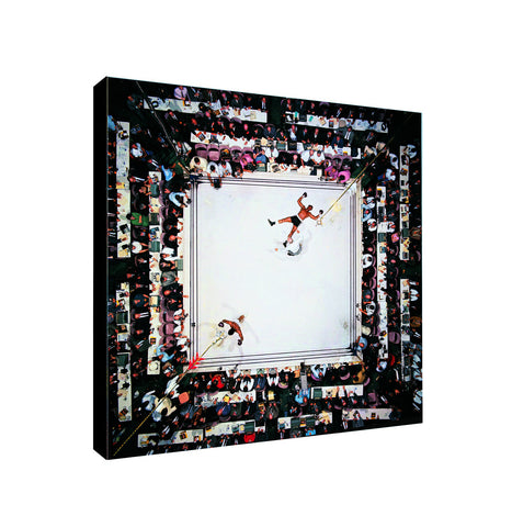 Muhammad Ali Knockout - Canvas Wall Art Framed Print - Various Sizes