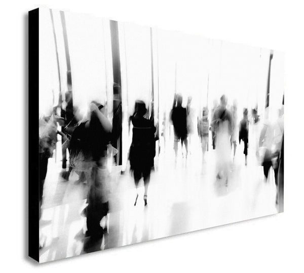 Abstract People - Canvas Wall Art Framed Print - Various Sizes