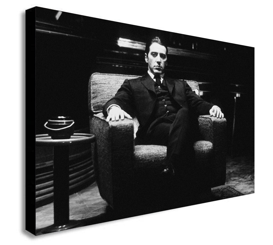 The Godfather Al Pacino - Canvas Wall Art Framed Print - Various Sizes