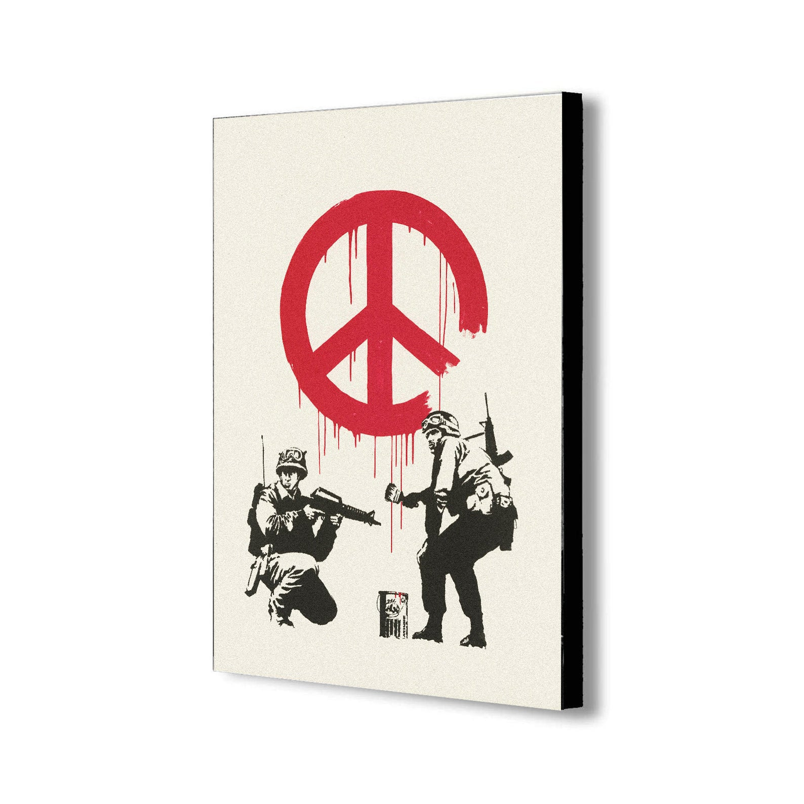 Banksy- CND Soldiers - Graffiti - Canvas Wall Art Framed Print - Various Sizes