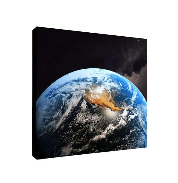 Planet Earth - Canvas Framed Wall Art Print - Various Sizes