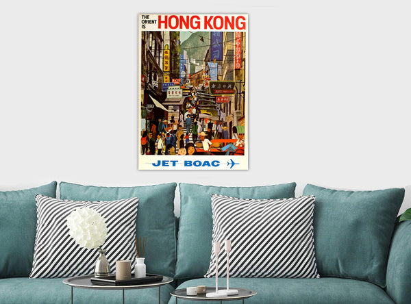 The Orient Is Hong Kong - Vintage Canvas Wall Art Framed Print - Various Sizes