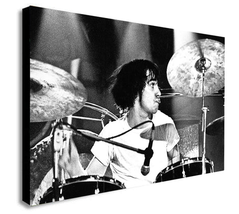 Keith Moon Drummer-The Who Rock Band - Canvas Wall Art Framed Print - Various Sizes