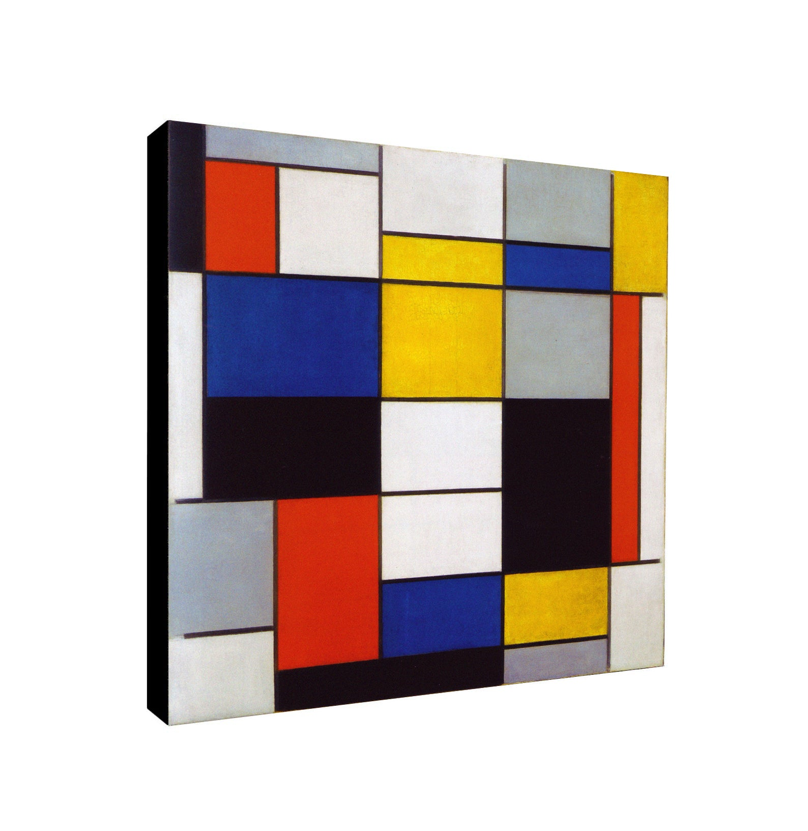 PIET MONDRIAN - COMPOSITION A - Framed Canvas Wall Art Print - Various Sizes