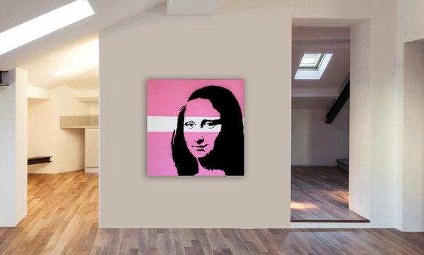 Mona Lisa - Banksy Graffiti -Canvas Wall Art Framed Print - Various Sizes