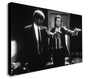 Pulp Fiction -Vincent and Jules- Canvas Wall Art Framed Print. Various Sizes