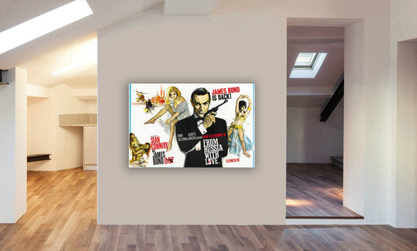 James Bond - From Russia With Love Movie - Canvas Wall Art Framed Print Various Sizes