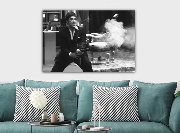 Scarface - Tony Montana - Canvas Wall Art Framed Print. Various Sizes