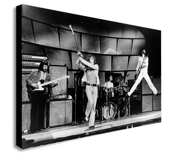 The Who Rock Band - Canvas Wall Art Framed Print - Various Sizes