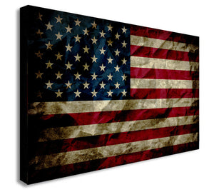 American Flag - Canvas Wall Art Framed Print - Various Sizes