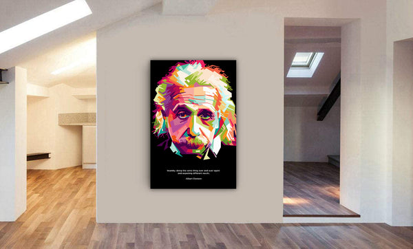 Albert Einstein - Famous Quote - Framed Canvas Wall Art Print - Various sizes