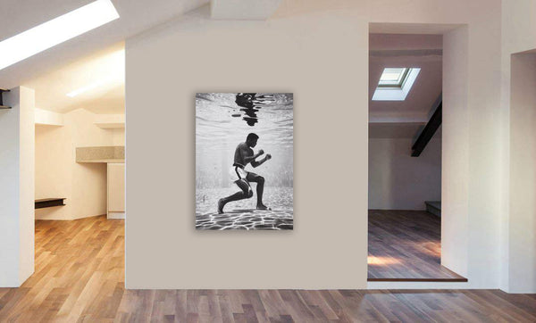 Muhammad Ali Underwater Framed Canvas Wall Art Print -Various sizes