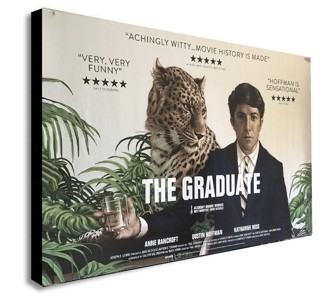 The Graduate - Movie - Canvas Wall Art Framed Print. Various Sizes