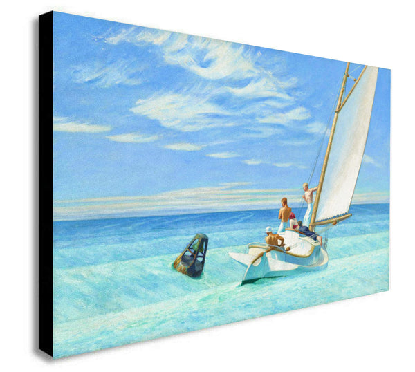 Edward Hopper - Ground Swell - Canvas Wall Art Framed  Print - Various Sizes