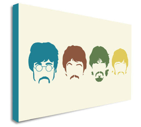 The Beatles Pop Art Canvas Wall Art Framed Print - Various Sizes