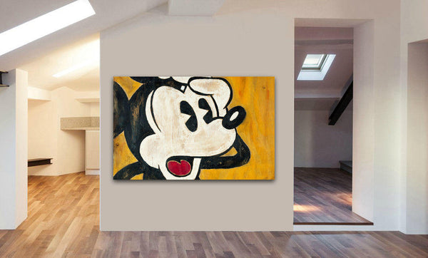 Mickey Mouse Vintage Canvas Wall Art Print - Various Sizes