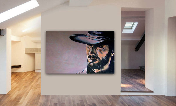 Clint Eastwood The Good The Bad And The Ugly Canvas Wall Art Print - Various Sizes