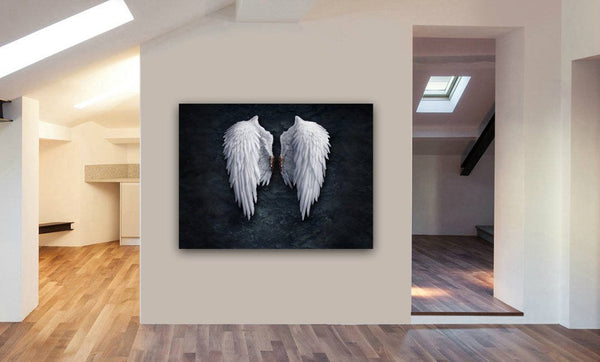 Banksy Angel Wings Canvas Wall Art Print - Various Sizes
