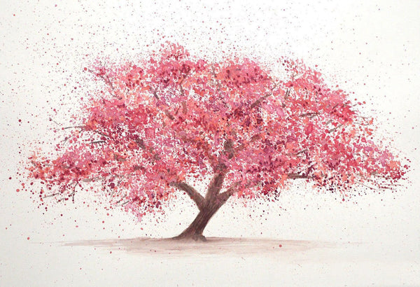 Cherry Tree Blossom Canvas Wall Art Print - Various Sizes